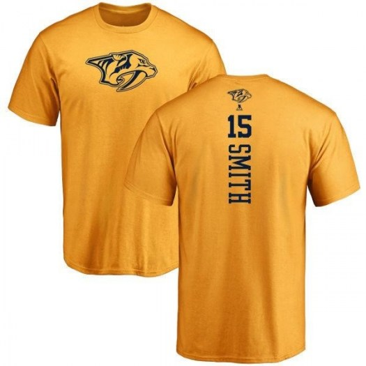 Craig Smith Nashville Predators Youth Gold Branded One Color Backer T-Shirt -
